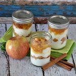 Receta manzana con yogurt y caramelo